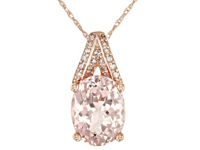 Pink Cor-De-Rosa Morganite™ 10k Rose Gold Pendant With Chain 1.48ctw