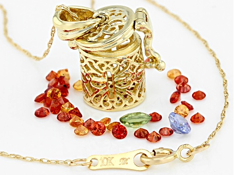 18 Prayer Box pendant necklace with a African Fire Agate bead