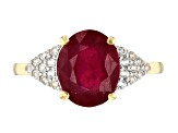 Red ruby 10k Gold Ring 3.97ctw