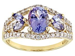 Blue Tanzanite 10k Gold Ring 1.65ctw