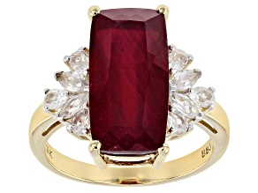 Mahaleo ® ruby 10k Yellow Gold Ring 8.45ctw