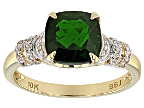 Green Russian Chrome Diopside 10k Gold Ring 2.19ctw