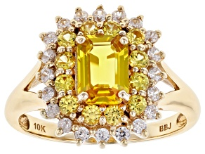 Yellow Sapphire 10k Gold Ring 1.82ctw