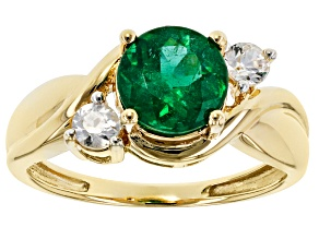 Green Apatite 10k Yellow Gold Ring 1.55ctw