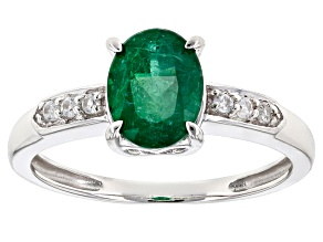Green Apaptite 10k White Gold Ring 1.22ctw