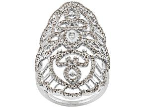 White Diamond Silver Ring 1.52ctw