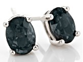 Grey Platinum Color Spinel 10k White Gold Earrings 1.41ctw