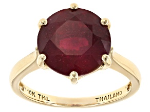 Mahaleo Ruby 10k Yellow Gold Ring 6.00ct