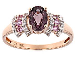 Pink Spinel 10k Rose Gold Ring 1.09ctw