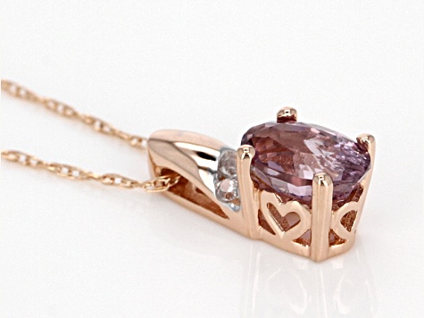 Pink Spinel 10k Rose Gold Pendant With Chain 0.46ctw