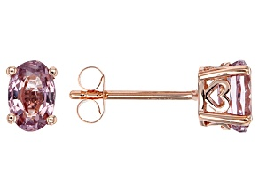 Pink Spinel Stud Earrings 1.28ctw