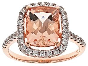 Pink Morganite 10k Rose Gold Ring 2.99ctw