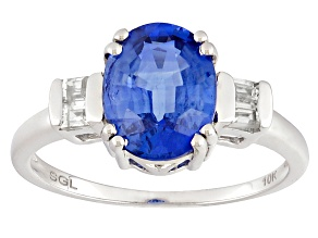 Blue Kyanite 10k White Gold Ring 1.80ctw