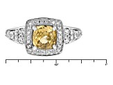 Yellow Zircon 10k Yellow Gold Ring 1.41ctw