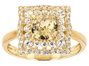 Yellow Zircon 10k Yellow Gold Ring 1.52ctw
