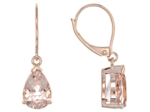 Pink Morganite 10k Rose Gold Earrings 2.12ctw