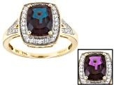 Color Change Lab Created Alexandrite 10k Yellow Gold Ring 1.99ctw