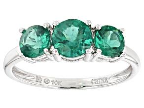 Green Apatite 10k White Gold Ring 1.79ctw