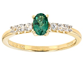 Green Apatite 10k Yellow Gold Ring .73ctw