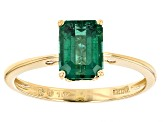 Green Apatite 10k Yellow Gold Ring 1.53ct