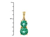 Green Apatite 10k Yellow Gold Pendant With Chain 1.15ctw