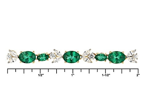 Green Apatite 10k Yellow Gold Bracelet 3.71ctw