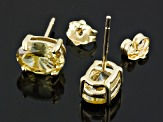 Yellow Zircon 10k Yellow Gold Stud Earrings 2.00ctw
