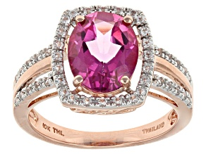 Pure Pink™ Topaz 10k Rose Gold Ring 3.23ctw
