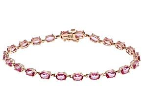 Pure Pink™ Topaz 10k Rose Gold Bracelet 10.65ctw