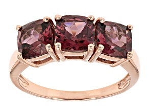Grape Color Garnet 10k Rose Gold Ring 2.81ctw