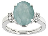 Green Grandidierite Sterling Silver Ring 3.60ctw