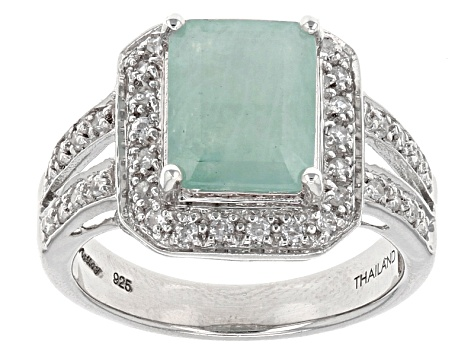 Green Grandidierite Sterling Silver Ring 2.90ctw
