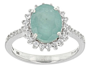 Green Grandidierite Sterling Silver Ring 2.28ctw
