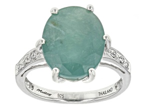 Green Grandidierite Sterling Silver Ring 5.84ctw