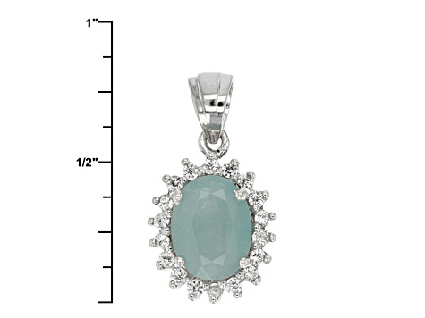 Green Grandidierite Sterling Silver Pendant With Chain 2.16ctw