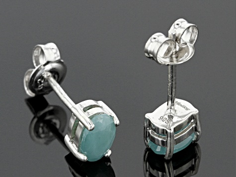Green Grandidierite Sterling Silver Earrings .95ctw