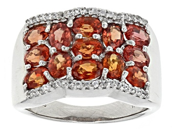 Picture of Red Winza Sapphire Sterling Silver Ring 2.25ctw