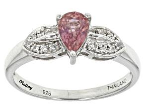Purple Ceylon Sapphire Sterling Silver Ring .53ctw
