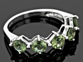 Green Apatite Sterling Silver Band Ring 2.08ctw