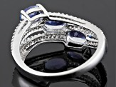 Blue Tanzanite Sterling Silver Ring 1.73ctw