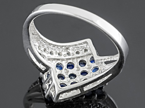 Blue Kanchanaburi Sapphire Sterling Silver Ring 1.00ctw