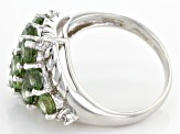 Green Apatite Sterling Silver Ring 2.51ctw