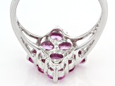 Pink Ceylon Sapphire Sterling Silver Ring 1.27ctw