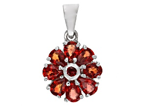 Red Winza Sapphire Sterling Silver Pendant With Chain