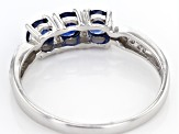 Blue Kanchanaburi Sapphire Sterling Silver Ring .73ctw