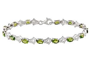 Green Apatite Sterling Silver Bracelet 7.24ctw
