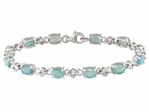 Green Grandiderite Sterling Silver Bracelet 9.59ctw