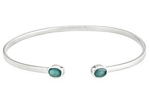 Green Grandiderite Sterling Silver Bracelet 1.25ctw