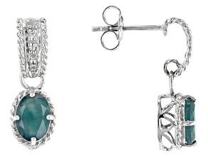 Green Grandidierite Sterling Silver Earrings 1.62ctw