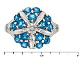 Neon Blue Apatite Sterling Silver Ring .95ctw
